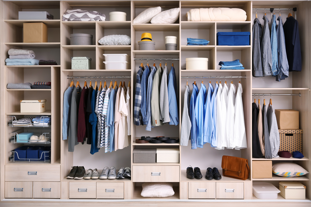 Organized Wardrobe for Spring Cleaning